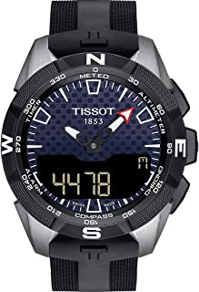Mens T-Touch Expert Solar II Mens Silicone Watch Titanium T1104204705101