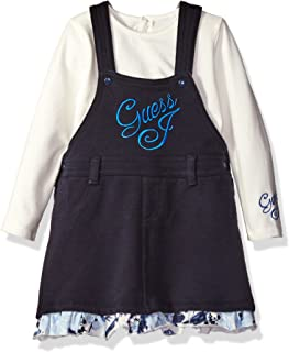 Baby Girls' Bodysuit and Overall Dress Set