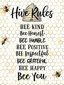 Eeypy Be Kind Honey Bee Decor Bumble Bee Decor Be Kind Sign Bee Decor Honey Bee Decor Classroom Art Metal Signs Funny 8x12 Inch
