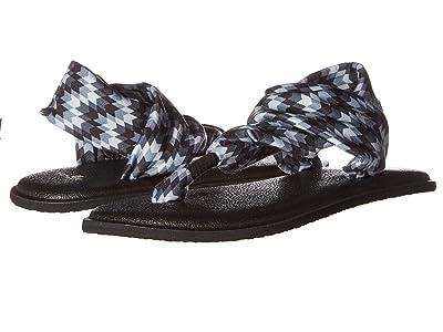 Sanuk Kids Lil Yog Sling 2 Prints (Little Kid/Big Kid) (Red Rock Chevron Black) Girls Shoes