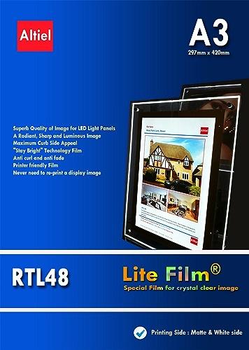 RTL48–A3 x 150 feuilles de Papier épais Lite rétroéclairé LED pour lampe de poche LED Lampe de table Motif Panneau LED £ 174.00 TVA et réveil livraison n'est disponible