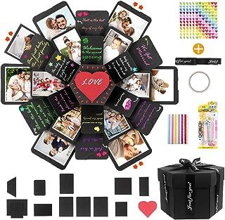 Yleadea Explosion Box, Caja de Regalo Creative Explosion Love Memory DIY Álbum de Fotos cumpleaños San Valentín Día de la Madre Navidad