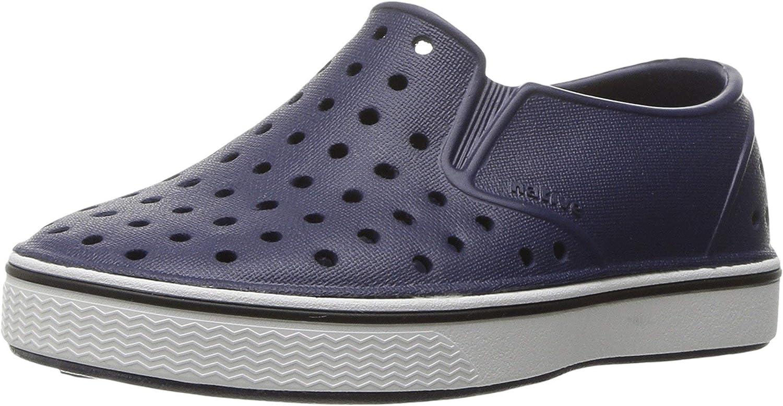 Native Shoes, Miles, Kids Shoe, Regatta Blue/Shell White, 9 M US Toddler