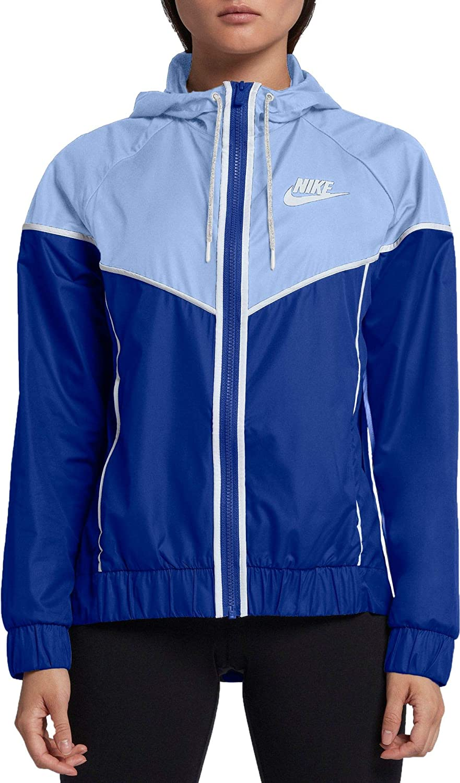 fecha Plano Mostrarte  Amazon.com: Nike - Chaqueta rompevientos ligera con capucha para mujer: Nike:  Clothing