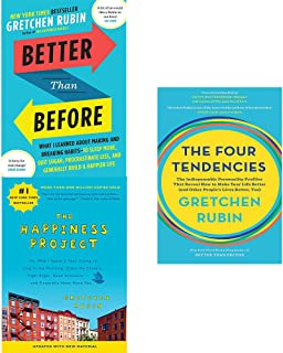 Gretchen Rubin Collection 3 Books Set (The Happiness Project, Better Than Before, The Four Tendencies)