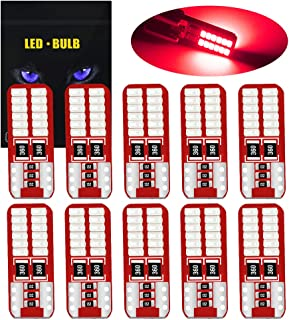 YEERON 194 168 LED Bulb Super Bright 24-SMD 3014 Chips Error Free 2825 W5W T10 Wedge LED Replacement Bulbs for Car Interio...