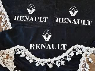 Lot de 3/rideaux Beige avec glands blancs Taille universelle pour tous les mod/èles Camion Man TGX TGS TGA Accessoires D/écoration Tissu Peluche