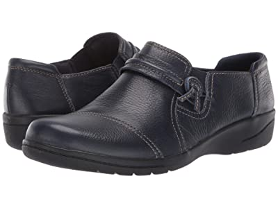 Clarks Cheyn Madi (Navy Tumbled Leather) Women