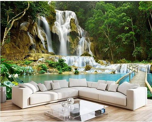 estar en gran demanda YYBHTM Cascada 3D Dormitorio Mural 3D 3D 3D Wallpaper Wall  descuento de bajo precio