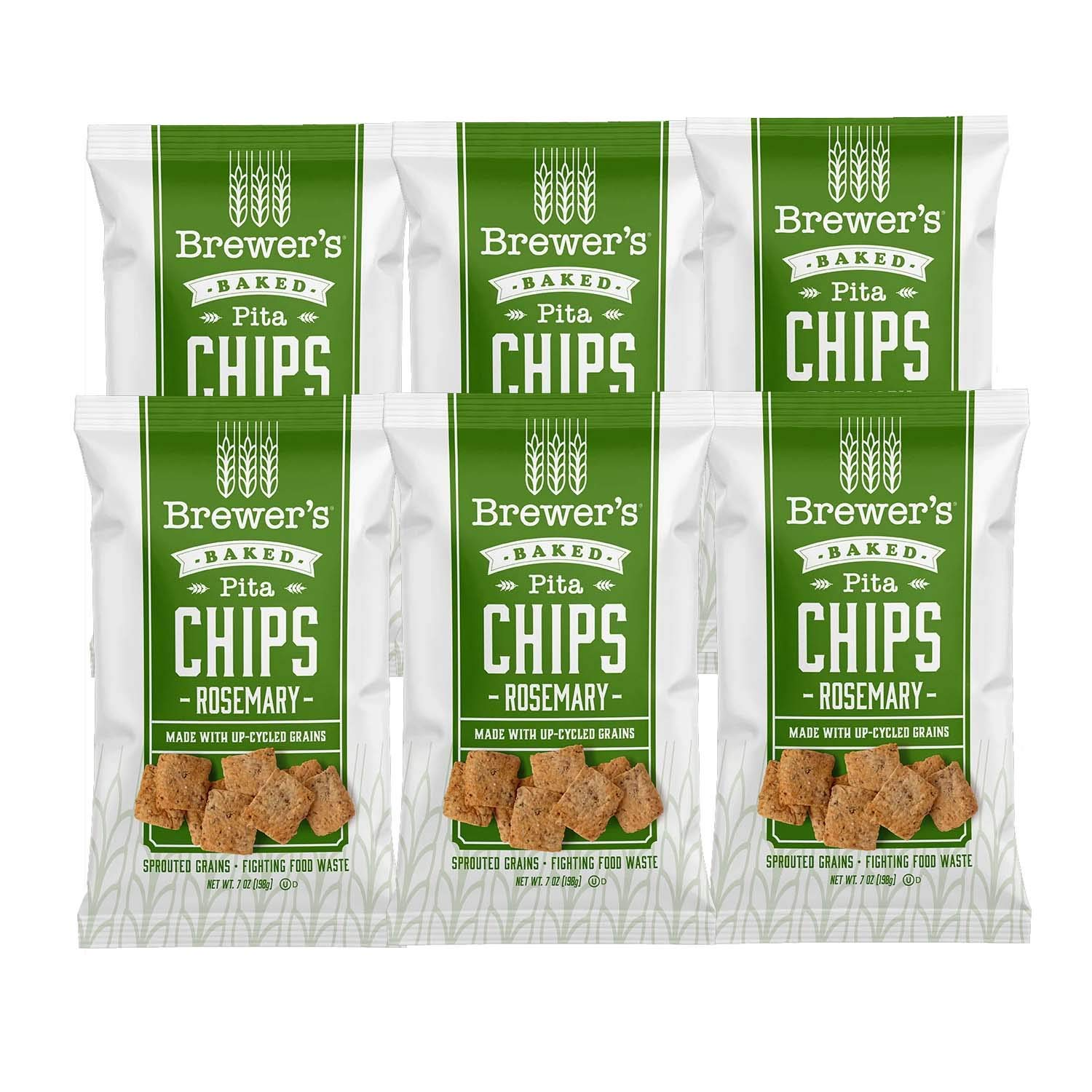2021 spring and summer new Brewer's Baked Pita Chips 7 Rosemary 6 oz Count Max 67% OFF