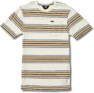 Volcom Big Boys' Idle Crew Short Sleeve Striped Pocket Tee