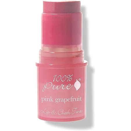 100% PURE Lip & Cheek Tint (Fruit Pigmented), Pink Grapefruit, Long Lasting Lip and Blush Stick, Natural Makeup, Lip Tint, Cream Blush - 0.26 Oz