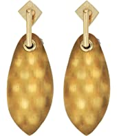 Alexis Bittar - Lucite Post w/ Back Pave Ball Detail Earrings