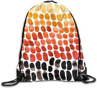 Bolsas de cuerdas Mochila de Cuerdas Patrones naturales de degradado rojo naranja amarillo para picnic, gimnasio, deporte,...