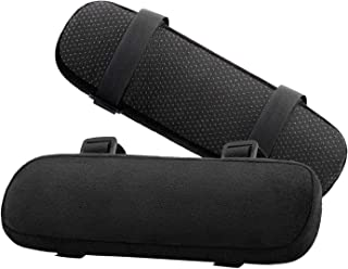 MoKo Office Chair Armrest Pads, Memory Foam Soft Elbow Pillow - Universal Chair Arm Covers for Elbows and Forearms Pressure Relief - Black(2 Pack)