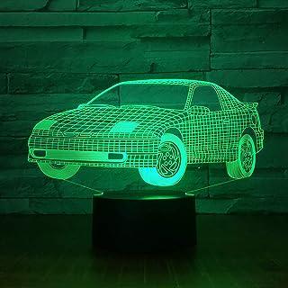 Lámpara de ilusión 3D wangZJCopa de vinoauricularesabstractocamióncadena de genes  7 colores cambiantesLuces de noc...