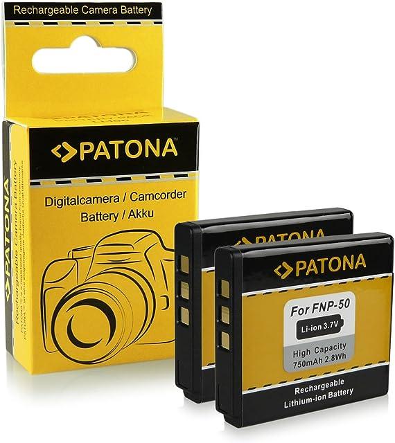 2x Batería Fuji NP-50 | Kodak Klic-7004 | Pentax D-Li68 / D-Li122 para Fujifilm FinePix F70EXR / F80EXR / F200EXR / F300EXR / F500EXR / F550EXR / F600EXR y mucho más… - Kodak EasyShare M1033 / M1093 / V1073 / V1233 / V1253 / V1273 - Pentax Q / Q10 | Pentax Optio A40 / S10 / VS20