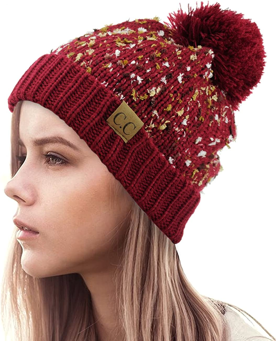 NYFASHION101 Exclusive Winter Top Pom OFFicial site Cuff At the price of surprise Bea Knit Confetti