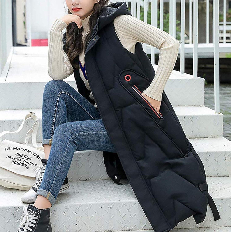 Shan-S Women's Warm Down Hooded Medium Vest Lightweight Lon Award-winning store supreme