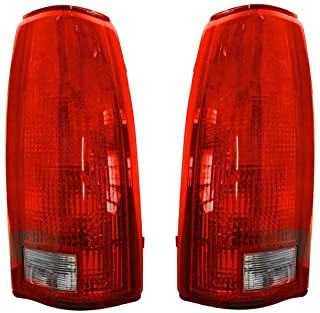 Rareelectrical NEW TAIL LIGHT LENS AND HOUSING PAIR COMPATIBLE WITH CHEVROLET GMC K1500 K2500 GM2809108 16506356 GM2808108...