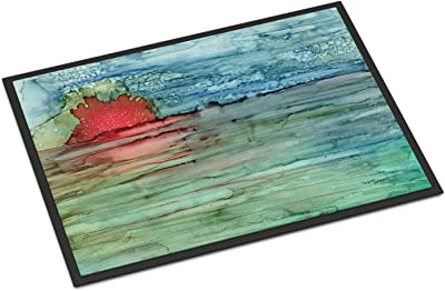 "Caroline's Treasures Abstract Sunset on The Water Indoor or Outdoor Mat 24x36 8984JMAT, 24""H x 36""W, Multicolor"