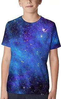 Funnycokid Boys' Girls 3D Printed Graphic T-Shirt Kids Teenagers Short Sleeve Tee Shirts 6-16 Years