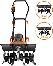 TACKLIFE Electric Tiller, 18-Inch Max 13.5 Amp Tiller Cultivator, Removable Blade,..