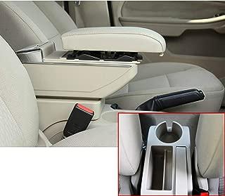 Per 2005-2019 Swift Lusso Auto Center Console Bracciolo Box Scatola bracciolo Accessori con Portabicchieri e Posacenere rimovibile Interno Luce a LED Organizer Nero