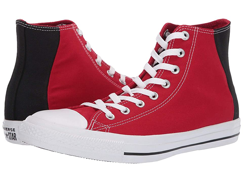 Converse Chuck Taylor(r) All Star(r) Color Block Patch Hi (Enamel Red/Black/White) Athletic Shoes