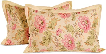 Swayam Drape and Dream Cotton 2 Piece Pillow Cover Set - Cream (PC02-3612)