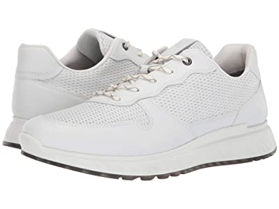 ECCO ST1 Perforated Sneaker (White) Men