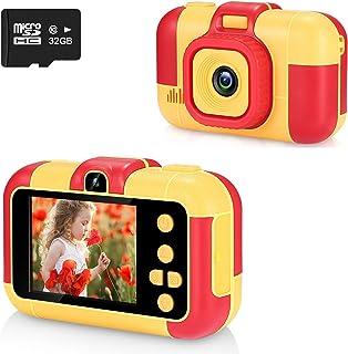 ASIUR Enfants Appareil Photo Numérique 1080P HD Vidéo Jouets Rechargeables Caméscopes Enfants pour Filles et Garçons 3-8 A...