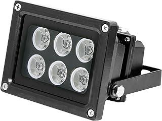 Hochleistungs Infrarot Scheinwerfer IN 906 schwarz mit 850nm IR LEDs für eine perfekte Nachtsicht