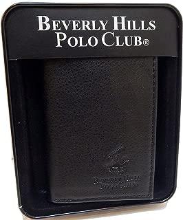 Beverly Hills Polo Club Tri-Fold Wallet Lichi Grain Color Black by Aquarius LTD C-W0178