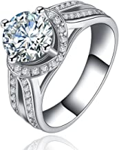 Superhai Contracted Hollow Out Design Perfect Wedding Rings Fashion Engagement Rings Couple Rings Zircon