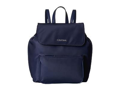 Calvin Klein Abby Nylon Backpack (Navy) Backpack Bags