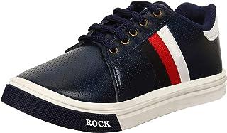 Earton Boys Comfortable & Trendy Look Synthetic Black Sneakers (Kids) 1091_$p