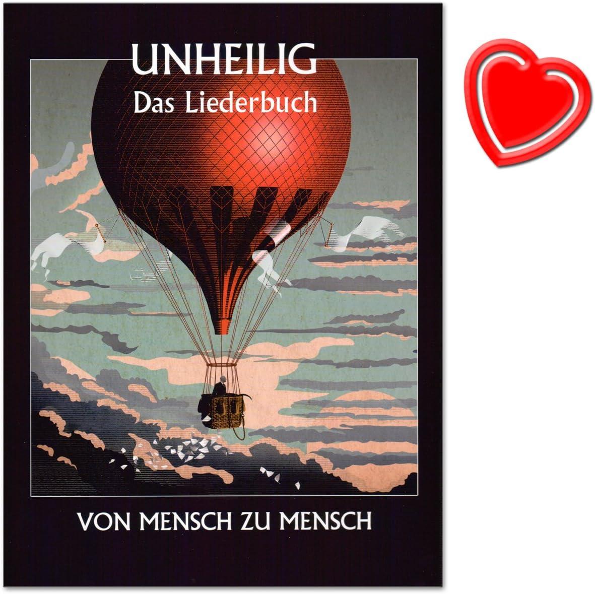 Inscribiente: de hombre a humano, el libro de canciones, el último álbum de la historia de la película Unheiligs, 16 piezas móviles para piano, voz y guitarra, con pinza de color en forma de corazón