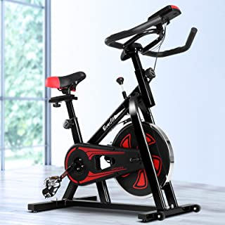 Exercise Bike Everfit Spin Bike 100KG Capacity Home Gym Stationary Bike Machine Flywheel Indoor Cycling Resistance Workout...
