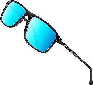 ATTCL - Gafas de sol polarizadas para hombre, Gafas de sol rectangulares, 100% anti UV400