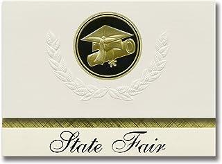 Signature Announcements State Fair (Sedalia, MO) Graduation Announcements, Presidential style, Basic package of 25 Cap & D...
