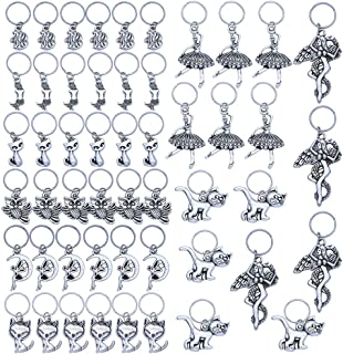51 Pieces Antique Tibetan Silver Hair Jewelry Rings for Braids Wholesale Charms Pendants DIY for Jewelry Making and Hair Decoration