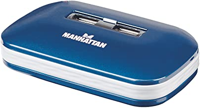 Manhattan 7-Port USB 2.0 Ultra Hub, Plug and Play C Windows and Mac Compatible (161039)