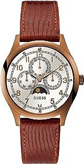 ساعة انالوج بعقارب جلد طبيعي دائرية للرجال من جيس W1111G2 - طوبي