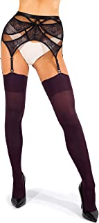 maroon thigh high stockings