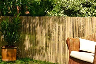 Best Artificial Real Bamboo Slat Fencing Screening Roll for