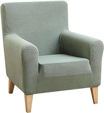 NUELLO Housses de fauteuils Extensible, Housse de canapé 1 Place Jacquard Housse de Canapé Extensible Extensible avec Accoudo