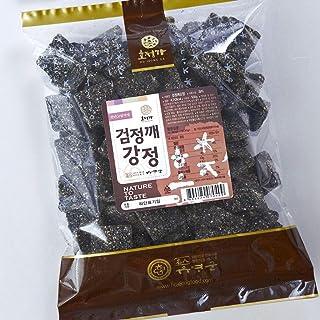 Korean Traditional Black Sesame Snacks [ Korean Snacks ] Crispy + Chewy Healthy Nutritious Asian Snack, Natural Ingredients [ JRND Foods ] 500 g