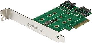 StarTech PEXM2SAT32N1 M.2 Adapter - 3 Port - 1 x PCIe (NVMe) M.2-2 x SATA III M.2 - SSD PCIE M.2 Adapter - M2 SSD - PCI Express SSD