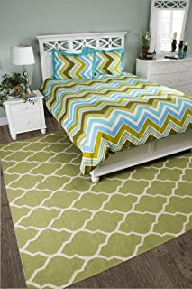 """Rizzy Home BT1194 Comforter, 68""""X92"""", Teal"""